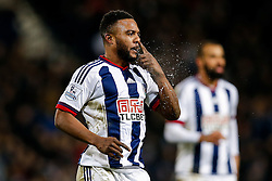 Stephane Sessegnon of West Bromwich Albion clears his nose - Mandatory byline: Rogan Thomson/JMP - 02/02/2016 - FOOTBALL - The Hawthornes - West Bromwich, England - West Bromwich Albion v Swansea City - Barclays Premier League.