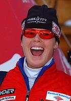 Alpint, 30.11.2001 Lake Louise, Kanada,<br />Die US-Amerikaerin Picabo Street am Freitag (30.11.2001) bei der Ski Alpin Weltcup Abfahrt der Damen in Lake Louise, Kanada.<br />Foto: Digitalsport