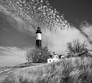 The Big Sable Point Lighthouse On A beautiful Autumn Day, Michigan's Lower Peninsula, USA
