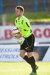 Cowdenbeath's keeper Grant Adam.<br /> Cowdenbeath 1 v 0 Falkirk, 14/9/2013.<br /> ©Michael Schofield.
