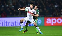 v.l. Simon Terodde (Stuttgart), Milos Veljkovic<br /> Bremen, 02.12.2017, Fussball Bundesliga, SV Werder Bremen - VfB Stuttgart 1:0<br /> Norway only