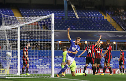 Birmingham City's Maikel Kieftenbeld celebrates scoring his side's first goal of the game during the Carabao Cup, Second Round match at St Andrew's, Birmingham.