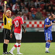 NLD/Amsterdam/20080808 - LG Tournament 2008 Amsterdam, Ajax v Arsenal, geel voor William Gallas en Gabri