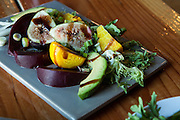 Roasted beet and fig salad, by Rebecca and Tom Woodrum, Table 56 Catering