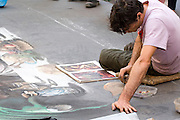 Italy, Rome, Street artist