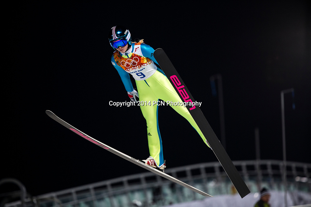 Spela Rogelj (SLO) competing in Women's Ski Jumping at t he Olympic Winter Games, Sochi 2014