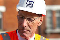 © Licensed to London News Pictures. 05/09/2013. London, UK. Sir John Armitt, chief of a review of long-term infrastructure planning in the UK is seen at the site of the Bond Street Crossrail station in London today (05/09/2013). The station forms part of the Crossrail train line, which will be 73 miles (118 km) long when finished in 2018, will connect Maidenhead and Heathrow in the west of London to Shenfield and Abbey Wood in the east, passing under central London to create a new commuter link. Photo credit: Matt Cetti-Roberts/LNP