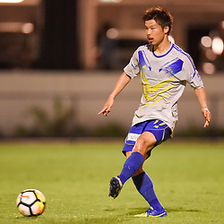 BRISBANE, AUSTRALIA - JANUARY 27: Hiroki Imori of the Strikers passes the ball during the Kappa Silver Boot Grand Final match between Lions FC and Brisbane Strikers on January 27, 2018 in Brisbane, Australia. (Photo by Patrick Kearney)