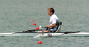 2004_Junior_Non_Olympics_Worlds_Lake Banyoles_Spain.29.07.2004 Thursday - Photo  Peter Spurrier .email images@intersport-images.com.Tel +44 7973 819 551 Adaptive Rowing..AM1X Rob Rowing Course: Lake Banyoles, SPAIN ,Equipment, . [Mandatory Credit: Peter Spurrier: Intersport Images]. .  Adaptive, Rowing. Para Rowing,
