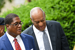 June 16, 2017 - Norristown, Pennsylvania, U.S - BILL COSBY, walks up to the court house in Montgomery County with his head held high and with his spokes person, ANDREW WYATT, on the fifth day of jury deliberations (Credit Image: © Ricky Fitchett via ZUMA Wire)