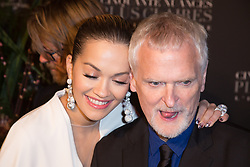 Rita Ora and director James Foley attends Fifty Shades Freed world premiere at Salle Pleyel on February 06, 2018 in Paris, France. Photo by ABACAPRESS.COM