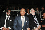 October 16, 2012-New York, NY : (L-R) Music Executive/Recording Artist /Actor/Sean Combs aka P. Diddy, Rev. Al Sharpton, and Director George Lucas at the 3rd Annual National Action Network Triumph Awards held at Jazz at Lincoln Center on October 16, 2012 in New York City. The Triumph Awards were established by the National Action Network to recognize the contributions of humanitarians from all walks of life and to encourage future generations to drum majors for justice. (Terrence Jennings)