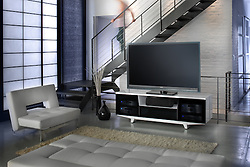 Large screen TV room with modern furniture VA1_803_266