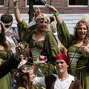 NLD/Amsterdam/20120804 - Canalparade tijdens de Gaypride 2012, Peter Pan boot