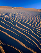 CADDV_016 - USA, California, Death Valley National Park, Ripple patterns in sand dunes at Mesquite Flats are defined by late afternoon light.