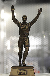 A model of the John Atyeo statue is unveiled to supporters in the Bristol Sport bar and Grill - Mandatory byline: Dougie Allward/JMP - 07966 386802 - 31/10/2015 - FOOTBALL - Ashton Gate - Bristol, England - Bristol City v Fulham - Sky Bet Championship