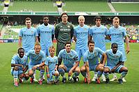 30 July 2011; Manchester City team. Dublin Super Cup, Airtricity League XI v Manchester City, Aviva Stadium, Lansdowne Road, Dublin.