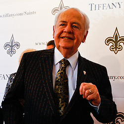 June 16, 2010; New Orleans, LA, USA; New Orleans Saints owner Tom Benson arrives at the Roosevelt Hotel where the New Orleans Saints received their Super Bowl rings for their victory of the Indianapolis Colts in Super Bowl XLIV.  Mandatory Credit: Derick E. Hingle