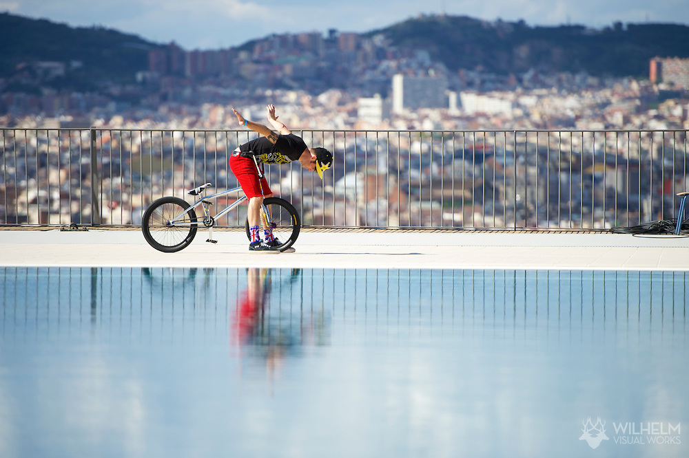 Simon Tabron during BMX Vert Finals at the 2013 X Games Barcelona in Barcelona, Spain. ©Brett Wilhelm/ESPN