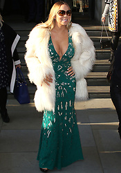 © Licensed to London News Pictures. 17/03/2016. London, UK. Mariah Carey leaves her hotel in London. Photo credit:  Brett D. Cove/LNP