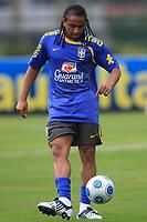 20090325: TERESOPOLIS, BRAZIL – Brazil National Team preparing match against Equador, at Teresopolis training center. In picture: Anderson. PHOTO: CITYFILES