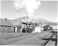 D&RGW #484 in Durango yard.  #473 is perhaps making up excursion train.  Looking north.<br /> D&RGW  Durango, CO