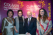 NO FEE PICTURES<br /> 23/1/16 Minister for Tourism Michael Ring and Maureen Ledwith, organiser of the Holiday World Show at the Colaiste na bhFiann stand at the Holiday World Show at the RDS in Dublin. Picture: Arthur Carron