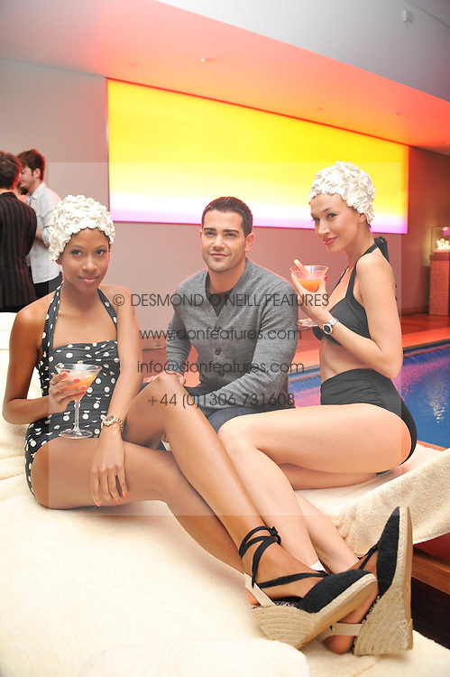 Actor JESSE METCALFE and Models at a pool party to celebrate the UK launch of the Omega Ladymatic Collection held at the Haymarket Hotel, Haymarket, London on 16th June 2011.