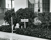 1972 Samuel Goldwyn's parking space at Samuel Goldwyn Studios in Hollywood