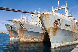 Ships in a dock in Las Palmas; Canaries,
