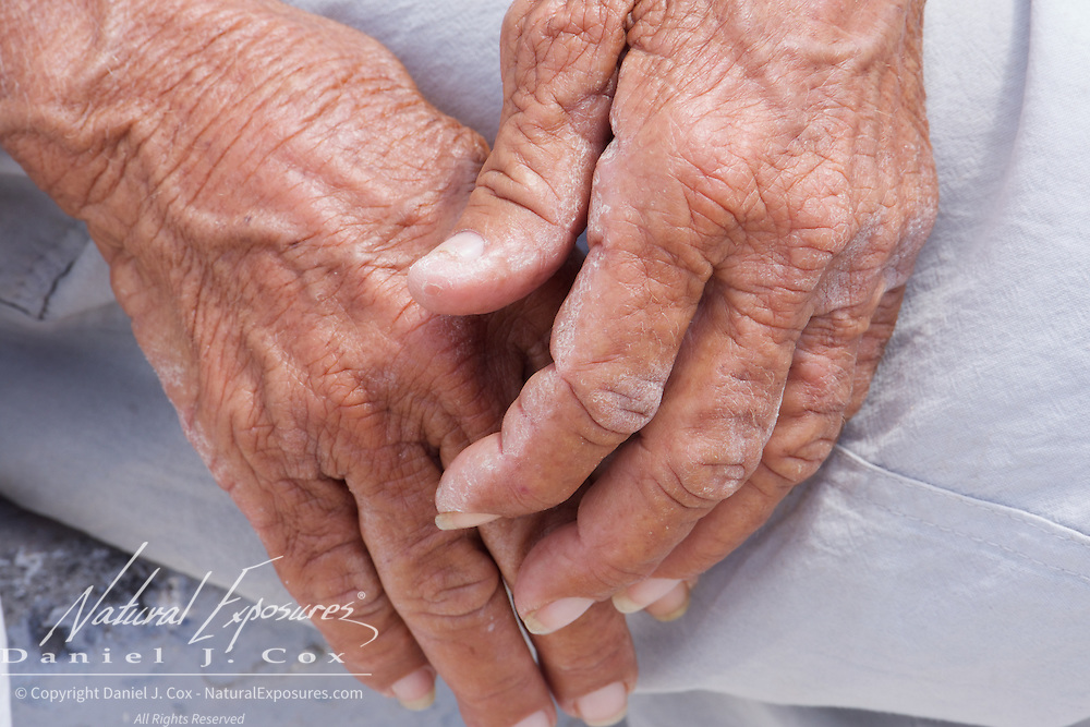 Hands of an old lady in Cojimar, Cuba.