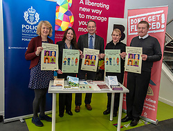 Pictured: <br /><br />Police Scotland is warning that anyone can be a victim of doorstep crime after householders lost hundreds of thousands of pounds to scammers. <br /> <br /> The Shut Out Scammers campaign was launched today at the Clydesdale Bank, George Street, Edinburgh.  Chief Superintendent John McKenzie was joined by colleagues from Police Scotland, Clydesdale Bank, Care and Repair Edinburgh, Crime Stoppers and Trading Standards.<br /> <br />Ger Harley | EEm 14 APRIL 2019