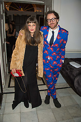 PHILIP & CHARLOTTE COLBERT at the Tatler Little Black Book Party at Home House Member's Club, Portman Square, London supported by CARAT on 11th November 2015.