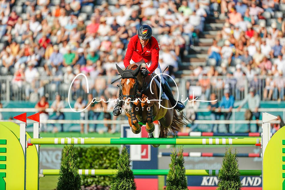RIESENBECK - FEI Jumping European Championship Riesenbeck 2021<br /> <br /> THIEME Andre (GER), DSP Chakaria <br /> Individual Final over 2 Rounds<br /> Round 2<br /> <br /> Hörstel-Riesenbeck, Reitanlage Riesenbeck International<br /> 05. September 2021<br /> © www.sportfotos-lafrentz.de/Stefan Lafrentz