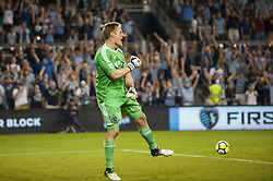August 9, 2017 - Kansas City, Kansas, United States - Kansas City, KS - Wednesday August 9, 2017:  Tim Melia celebrates after defeating the San Jose Earthquakes in PKs to advance to the Final of the 2017 U.S. Open Cup during a Lamar Hunt U.S. Open Cup Semifinal match between Sporting Kansas City and the San Jose Earthquakes at Children's Mercy Park. (Credit Image: © Amy Kontras/ISIPhotos via ZUMA Wire)