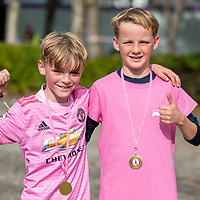 REPRO FREE<br /> Tadgh and Sean MacCarthy from Kinsale pictured at the 2019 Kinsale Pink Ribbon Walk in aid of the Irish Cancer Society Action Breast Cancer.<br /> Picture. John Allen