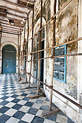 The derelict Hotel du Ville that has been saved by INTACH Indian National Trust for Art and Cultural Heritage. Pondicherry, India. Pondicherry now Puducherry is a Union Territory of India and was a French territory until 1954 legally on 16 August 1962. The French Quarter of the town retains a strong French influence in terms of architecture and culture.