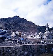 City of Aden, Yemen, 1998 cemetery graveyard and mosque