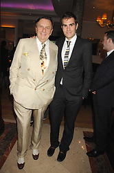 Left to right, BARRY HUMPHRIES and his son OSCAR HUMPHRIES at a party to celebrate the 180th Anniversary of The Spectator magazine, held at the Hyatt Regency London - The Churchill, 30 Portman Square, London on 7th May 2008.<br /><br />NON EXCLUSIVE - WORLD RIGHTS