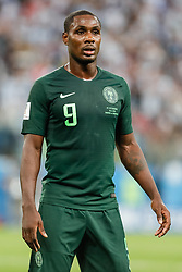 June 26, 2018 - Saint Petersburg, Russia - Odion Ighalo of Nigeria national team during the 2018 FIFA World Cup Russia group D match between Nigeria and Argentina on June 26, 2018 at Saint Petersburg Stadium in Saint Petersburg, Russia. (Credit Image: © Mike Kireev/NurPhoto via ZUMA Press)