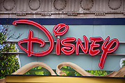 The sign to the Disney shop on Oxford Street, London.