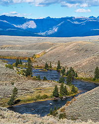 Green River and the Wind River Mountains near Pinedale Wyoming