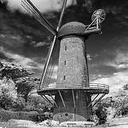Dutch Windmill - Golden Gate Park - San Francisco - Black & White