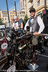 Buck Carson of Texas on his 1916 BSA on the Atlantic City boardwalk at the start of the Motorcycle Cannonball Race of the Century. Stage-1 from Atlantic City, NJ to York, PA. USA. Saturday September 10, 2016. Photography ©2016 Michael Lichter.