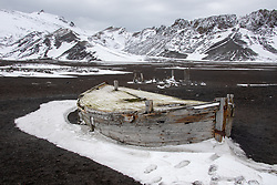 Remnants Of A Water Boat (Was Used To Bring Melted Glacier To The Whaling Station For Processing Whales, Decpetion Island