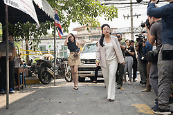 March 24, 2019 - Bangkok, Thailand - Pheu Thai Party leader and candidate for Prime Minister Sudarat Keyuraphan arrives at a polling station in Bangkok to cast her ballot in the 2019 Thai general election..Thailand is hosting its first general election in 8 years. (Credit Image: © Geovien So/SOPA Images via ZUMA Wire)