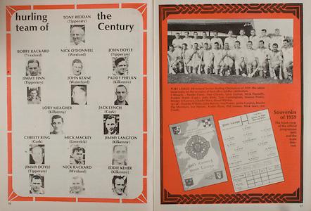 All Ireland Senior Hurling Championship - Final,.02.09.1984, 09.02.1984, 2nd September 1984,.Cork 3-16, Offaly 1-12,.02091984AISHCF,.Senior Cork v Offaly, .Minor Kilkenny v Limerick,..Hurling Team of the century, Tony Reddan, Tipperary, Bobby Rackard, Wexford, Nick O'Donnell, Wexford, John Doyle, Tipperary, Jimmy Finn, Tipperary, John Keane, Waterford, Paddy Phelan, Kilkenny, Lory Meagher, Kilkenny, Jack Lynch, Cork, Christy Ring, Cork, Mick Mackey, Limerick, Jimmy Langton, Kilkenny, Jimmy Doyle, Tipperary, Nick Rackard, Eddie Keher, Kilkenny,