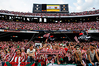 Athletic de Bilbao´s supporters during 2014-15 Copa del Rey final match between Barcelona and Athletic de Bilbao at Camp Nou stadium in Barcelona, Spain. May 30, 2015. (ALTERPHOTOS/Victor Blanco)