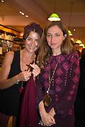 AOIFE O'BRIEN; ALBA ARIKHA;  Alba Arikha  book launch for 'Soon' , Daunt's Holland Park.. London. 17 September 2013.