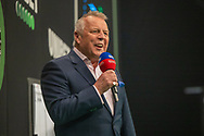 Master of Ceremonies John McDonald during the Betway Premier League Darts Night Eight at Marshall Arena, Milton Keynes, United Kingdom on 21 April 2021
